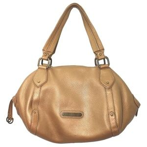 Cole Haan Dark Gold Leather Satchel